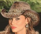 NEW Montecarlo Bullhide WILD AND FREE California Straw Western Cowboy Hat NWT