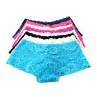 Womens Ladies French Lace Panties Knickers Boy Shorts Underwear + Bangs Holder
