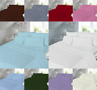 """Percale T180 Extra Deep 16"""" Valance Fitted Flat  Sheet Single Double Super King image"""