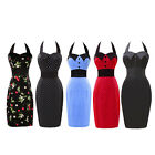 Stock Evening Rockabilly Party Cocktail Vintage Style Midi Work PROM Dress Plus