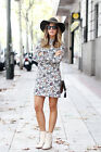 ZARA BLOGGERS FLORAL PRINT DRESS SIZE LARGE