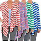 LADIES OPEN FRONT WATERFALL CARDIGAN EX-BRANDED 4 COLOURS