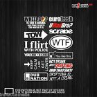 EMP251 euro dtm volvo bmw sticker decal tow dub drift stance lower turbo racing