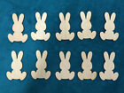Pack of 10 Wooden Easter Bunnies - Ready to paint / decorate - 3 sizes to choose