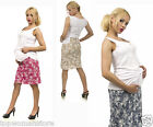 Top Woman Store Maternity Short Flowers Skirt Jeans Over Bump Size 8 10 12 14 16