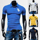 HOT SALE Mens Slim Fit Casual Polo Shirts Short Sleeve T-Shirt Tee Size XS S M L