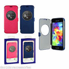 Genuine Samsung Galaxy S5 Mini Circle Case View Window Book Cover SM-G800F Shell