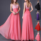 Long Chiffon Wedding Evening Dress Formal Party Ball Gown Prom Homecoming Dress