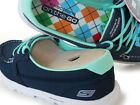 13563/navy Women 8.5 Skechers On The GO UNITE canvas Walking Shoes Gowalk Medium