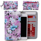 Womens Flower Pattern Wallet Case Cover for Smart Cell Phones by KroO ESMLF-4