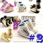 Anti-slip Baby Crib Shoe Sneaker Boy Girl Toddler Infant Newborn-18 Months #FU24
