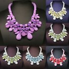 New Charm Crystal Chunky Choker Bubble Bib Statement Collar Necklace Pendant 10E