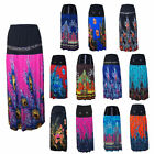Ladies Floral Digital Print ankle length skirt with diamante trim