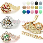 Mexican Bola Pendant Angel Wing Cage Harmony Chime Sounds Ball Necklace Gift DIY