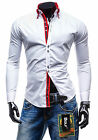 Stylish Mens Designer Top Long Sleeve Shirt Slim Fit shirt