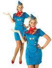 Adult AIR HOSTESS Fancy Dress Cabin Crew Flight Costume UK Sizes 8 - 18 (880645)