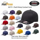 Authentic Flexfit 6277Y Wooly Combed Youth Cap ALL COLORS