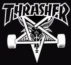 Thrasher magazine fabric  banner 36x36 Black   *Free Thrasher  Sticker*