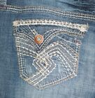 NWT HYDRAULIC woman PREMIUM JEANS embroidered flap pocket BOOT CUT 2, 6,10, 12