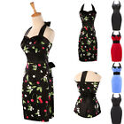 Plus SIze halter Womens Polka Dot 50s Rockabilly Swing Party Prom Cocktail Dress