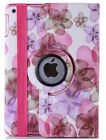 flower girl's 360 rotate leather case cover for ipad 2/3/4/5/Air/mini rose