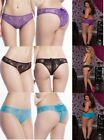Ruffled lace and fine mesh Crotchless underwear Plus size 18 to 24