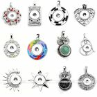 Crystal Snap-It Charm Bead Pendant Fit Snap On Click Button Jewelry Necklace DIY