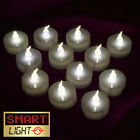 SmartLight WHITE Flameless Flickering LED Tea Light Candles Battery Tealights