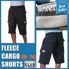 PRO CLUB CARGO FLEECE SHORTS MEN HEAVYWEIGHT JOGGER SWEATPANTS BIG AND TALL S-7X