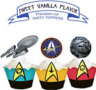 Star Trek Space  Birthday Party EDIBLE Vanilla Cupcake Toppers PRECUT cup cake