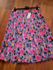 PRETTY BRIGHT FLORAL LINED CRINKLE LOOK MAXI SKIRT SIZES 8-22 RRP £16.00