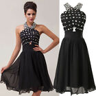 BLACK+BEADED Short Graduation Party Evening Cocktail Bridesmaid Prom Dresses