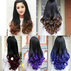 Fashion Half Wig Long Curly Wavy Hair Costume Full Wig Black Mix Color 4 Styles