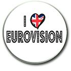 """EUROVISION SONG CONTEST PARTY BADGES~ 25 MM/1 """" SUPER FUN NOVELTY"""