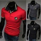 Fashion Men's Casual Slim Fit Short Sleeve V-Neck Personalized Tee T-Shirts New