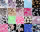 1000Pcs Half Flat Back Pearl Bead Scrapbooking Embellishment Craft ,5/6/7/8mm
