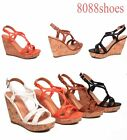 Women's Cute Buckle String Strappy Open Toe Wedge Sandal Shoes Size 5.5 - 10 NEW