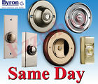 Byron Hard Wired Door Bell Chime Push Press Button Brass Chrome Nickel Plastic