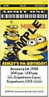 "Minions - Movie - Invitations - Customized 4 U! WE Print! 3""x6"" 12 REQUIRED!!"