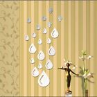 New 3D DIY Mirror Removable Wall Stickers Decal Sofa Living Room Home Decor LJ