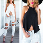 Summer Women Loose Blouse Cross Camisole Slim Crop Top Casual T-Shirt Vest