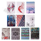 For iPad/Samsung Tablets Leather Card Holder Media Stand TPU Rubber Case Cover