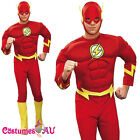 Mens The Flash Costume Muscle Chest Justice League DC Comics Adults Fancy Dress