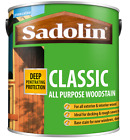 2.5lt Sadolin Classic Wood Protection Mahogany Teak Walnut and all other colours