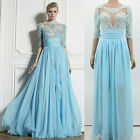 Unique Lace Sweet Womens Bridesmaid  Cocktail Evening GOWNS Prom Long Dresses