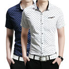 High Quality Mens Fashion Heart-shaped Design Short Sleeve Business Shirts New