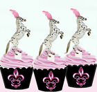 Appaloosa Horse Pony Birthday Party EDIBLE wafer 15 Cupcake Toppers cup cake