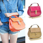 Patent Leather Crossbody Bag Messenger Bag with Pin Clasp-Fastening Front Flap