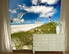 Photo Wall Mural LIGHTHOUSE IN DUNES 300x280 Wallpaper Wall art Wall decor Sea