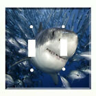 Great White Shark Light Switch Plate Wall Cover Tropical Underwater Decor